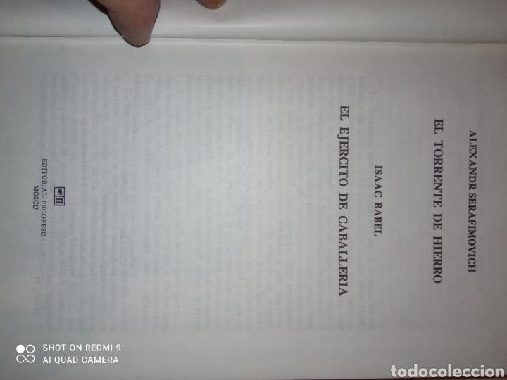 Libros de segunda mano: El Torrente de Hierro Alexandra Serafirmovich y El ejercito de Caballería Isaak Babel - Foto 3 - 253577600