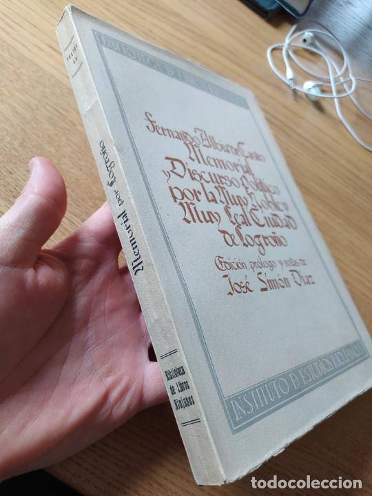Libros de segunda mano: Memorial histórico por la ciudad de Logroño Albia de Castro, Fernando. Inst. Est. Riojanos, 1953 - Foto 3 - 278854383