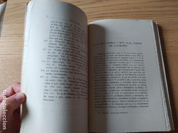 Libros de segunda mano: Memorial histórico por la ciudad de Logroño Albia de Castro, Fernando. Inst. Est. Riojanos, 1953 - Foto 10 - 278854383