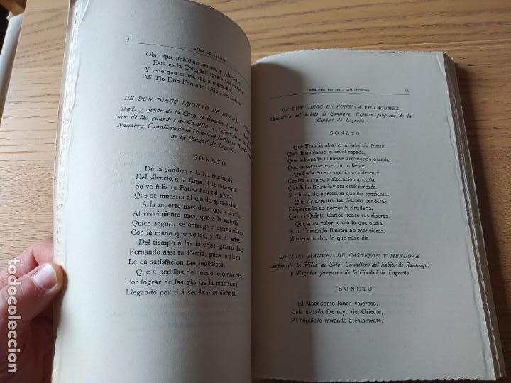 Libros de segunda mano: Memorial histórico por la ciudad de Logroño Albia de Castro, Fernando. Inst. Est. Riojanos, 1953 - Foto 11 - 278854383