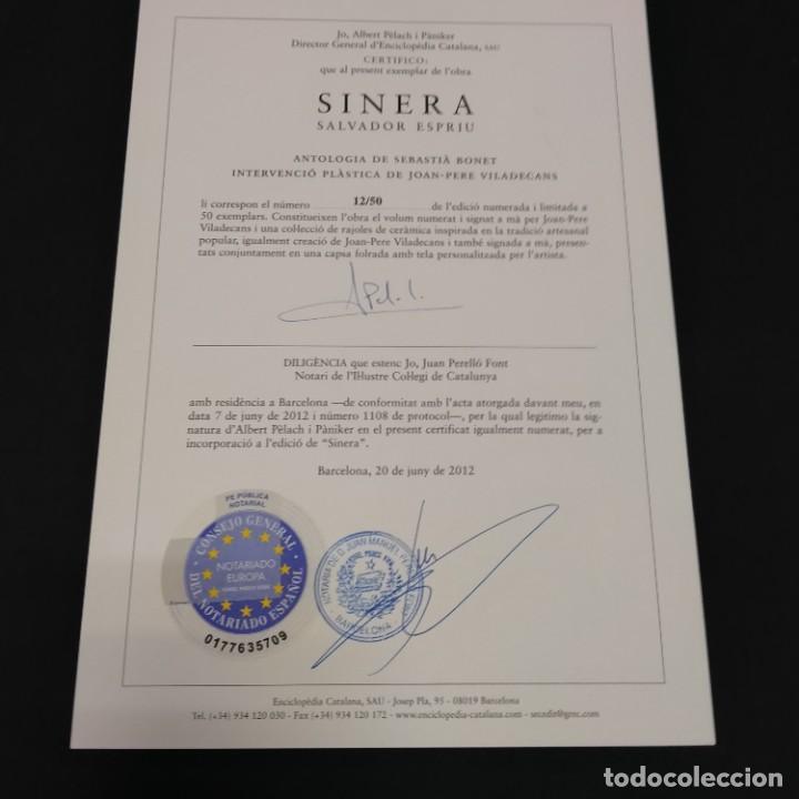 Libros de segunda mano: SINERA - SALVADOR ESPRIU -JOAN-PERE VILADECANS - ENCICLOPÈDIA CATALANA - tirada de 50 - FIRMADO - Foto 6 - 253821950