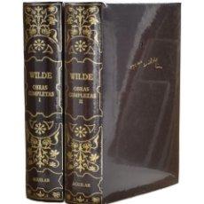 Libros de segunda mano: OBRAS COMPLETAS, I-II (EDICIÓN COMPLETA EN 2 TOMOS) - WILDE, OSCAR - AGUILAR - PRECINTADOS. Lote 254065260
