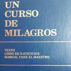 Libros de segunda mano: UN CURSO DE MILAGROS TEXTO LIBRO DE EJERCICIOS Y MANUAL PARA EL MAESTRO FOUNDATION INNER PEACE 1999. Lote 289308603