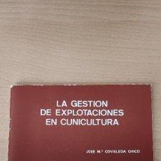 Libros de segunda mano: FOLLETO.LA GESTIÓN DE EXPLOTACIONES EN CUNICULTURA- S. D. Nº 12. Lote 254138985