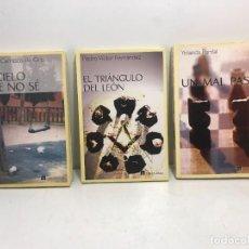 Libros de segunda mano: LOTE 3 LIBROS TABLA RASA EL CIELO QUE NO SÉ - EL TRIANGULO DEL LEÓN - UN MAL PASO. Lote 254212255