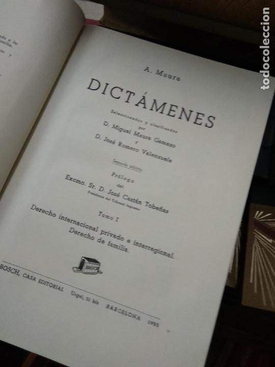 Libros de segunda mano: Dictámenes, A. Maura. (Tomos I, II, III, IV, V, VI, VII). L.5798-1469 - Foto 4 - 254254415