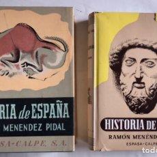 Libros de segunda mano: HISTORIA DE ESPAÑA: ESPAÑA PREHISTÓRICA. TOMO I (2 VOLÚMENES). RAMÓN MENÉNDEZ PIDAL.. Lote 124716127