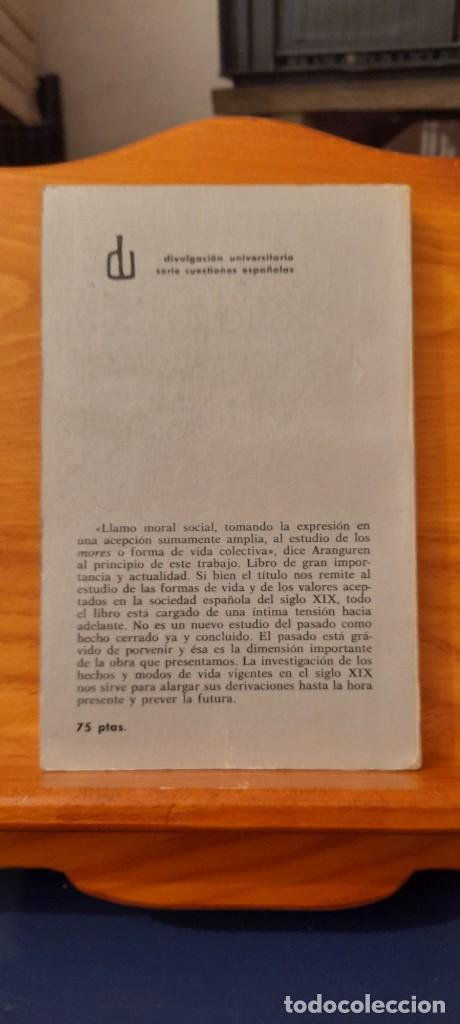 Libros de segunda mano: MORAL Y SOCIEDAD - LA MORAL SOCIAL ESPANOLA EN EL SIGLO XIX - Foto 3 - 254374580