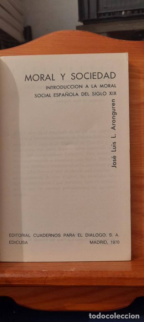 Libros de segunda mano: MORAL Y SOCIEDAD - LA MORAL SOCIAL ESPANOLA EN EL SIGLO XIX - Foto 9 - 254374580