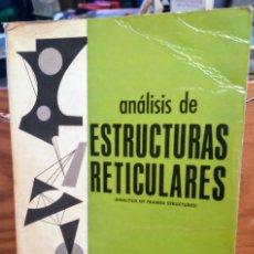 Libros de segunda mano: ANALISIS DE ESTRUCTURAS RETICULARES - GERE - WEAVER. Lote 254398220