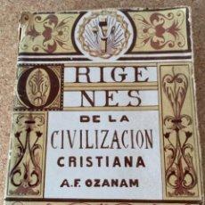 Libros de segunda mano: ORÍGENES DE LA CIVILIZACIÓN CRISTIANA (BOLS, 5). Lote 254409690