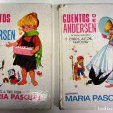 Libros de segunda mano: CUENTOS DE ANDERSEN. NÚMS. 5 Y 8. ILUSTRACIONES DE MARÍA PASCUAL. TAPA DURA.. Lote 175128487