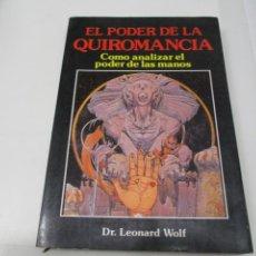 Libros de segunda mano: LEONARD WOLF EL PODER DE LA QUIROMANCIA W6536. Lote 254680395