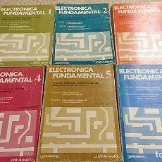 Libros de segunda mano: ELECTRÓNICA FUNDAMENTAL. 6 VOLÚMENES. PARANINFO. J.Mª ANGULO. Lote 254722570