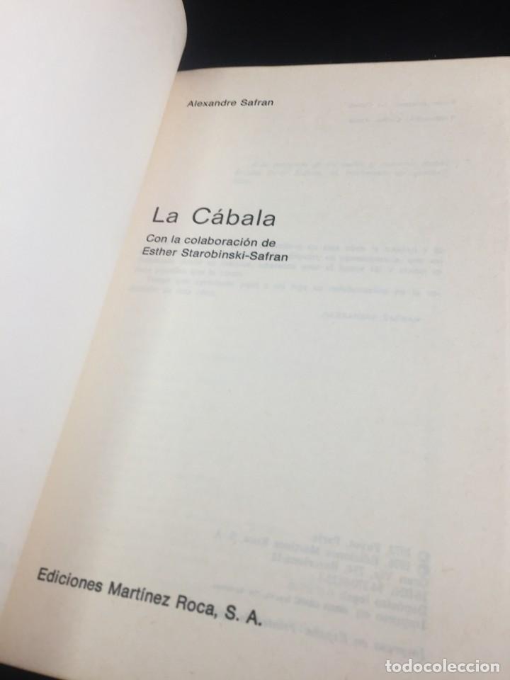 Libros de segunda mano: La Cábala de Alexandre Safran, La otra Ciencia, Martínez Roca. 1976 - Foto 3 - 254724550