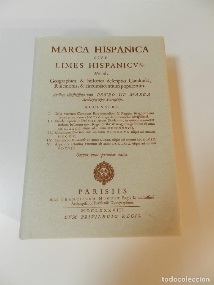 Libros de segunda mano: MARCA HISPANICA SIVE LIMES HISPANICUS PETRUS MARCA, FACSIMIL - HISTORIA DE CATALUNYA - COM A NOU - Foto 2 - 254895715