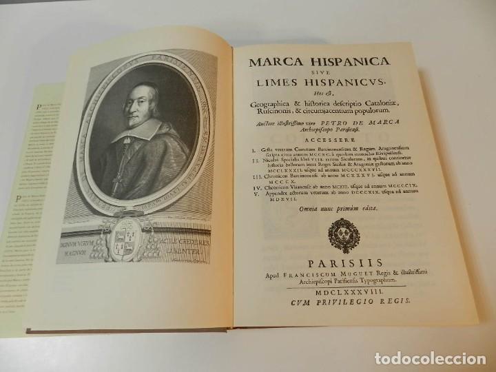 Libros de segunda mano: MARCA HISPANICA SIVE LIMES HISPANICUS PETRUS MARCA, FACSIMIL - HISTORIA DE CATALUNYA - COM A NOU - Foto 5 - 254895715