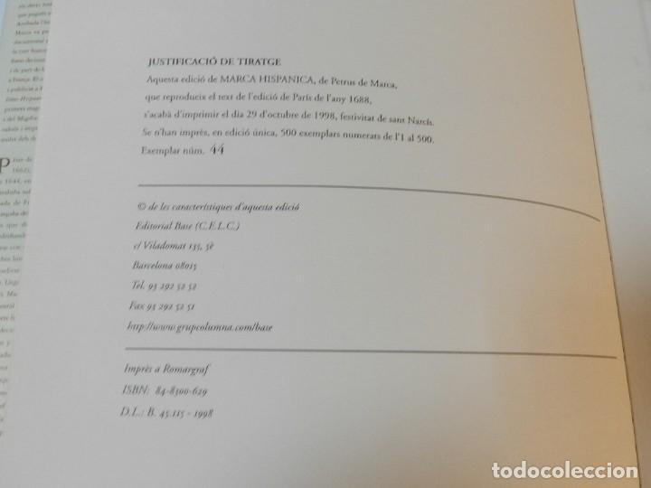 Libros de segunda mano: MARCA HISPANICA SIVE LIMES HISPANICUS PETRUS MARCA, FACSIMIL - HISTORIA DE CATALUNYA - COM A NOU - Foto 8 - 254895715