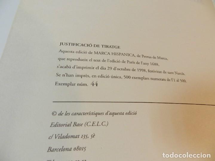 Libros de segunda mano: MARCA HISPANICA SIVE LIMES HISPANICUS PETRUS MARCA, FACSIMIL - HISTORIA DE CATALUNYA - COM A NOU - Foto 10 - 254895715