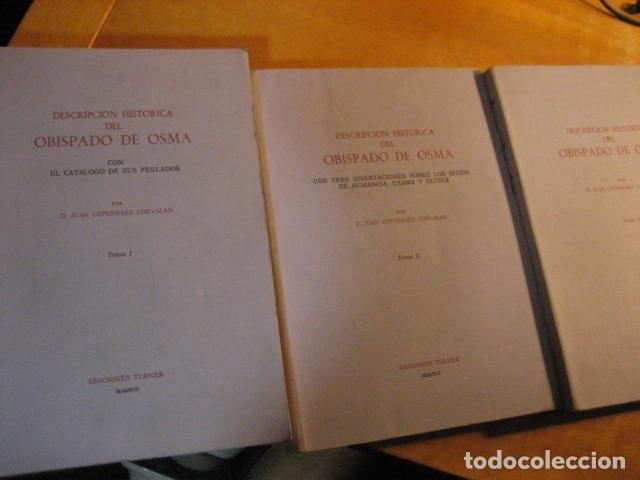 Libros de segunda mano: DESCRIPCION HISTORICA DEL OBISPADO DE OSMA ( JUAN LOPERRAEZ CORVALAN , 3 TOMOS ) - Foto 2 - 254897105