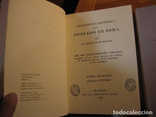 Libros de segunda mano: DESCRIPCION HISTORICA DEL OBISPADO DE OSMA ( JUAN LOPERRAEZ CORVALAN , 3 TOMOS ) - Foto 8 - 254897105
