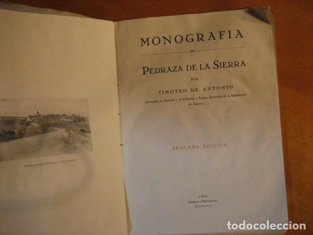 Libros de segunda mano: MONOGRAFIA DE PEDRAZA DE LA SIERRA POR TIMOTEO DE ANTONIO SEGOVIA 1951 OFERTA - Foto 6 - 254899105
