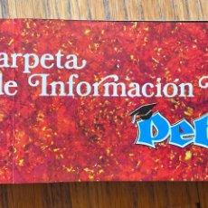 Libros de segunda mano: CARPETA DE INFORMACION ESCOLAR PETETE. Lote 255335225