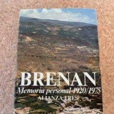 Libros de segunda mano: MEMORIA PERSONAL 1920/1975, BRENAN (BOLS 5). Lote 255513020