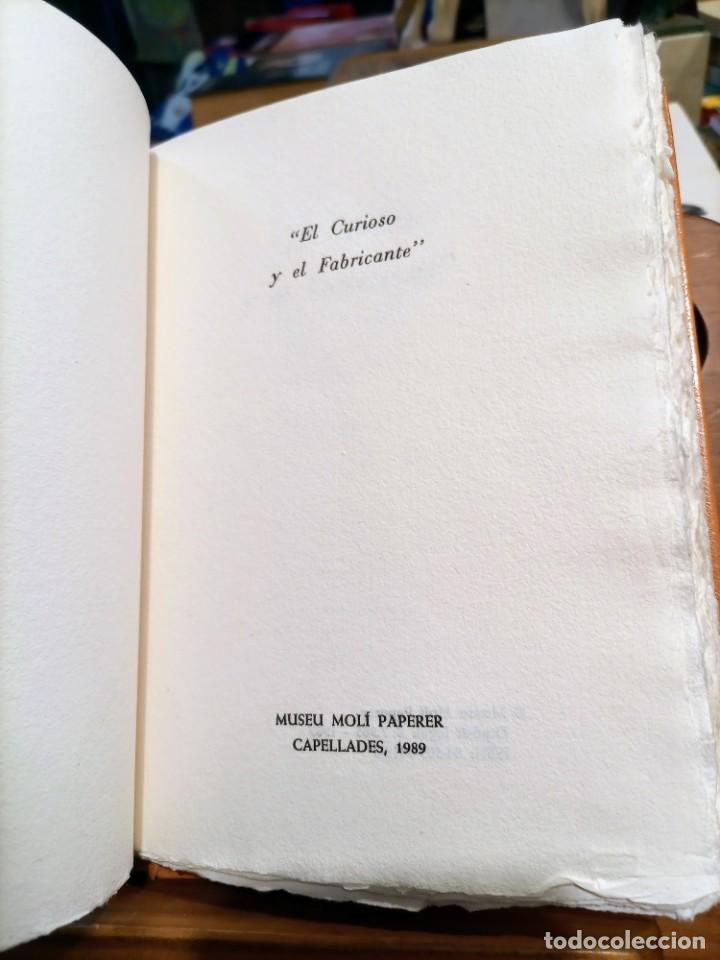 Libros de segunda mano: RARO 24 grabados PAPEL DE FUMAR - EL CURIOSO Y EL FABRICANTE - 1989 - CAPELLADES - LIMITADO - num. - Foto 7 - 255570305