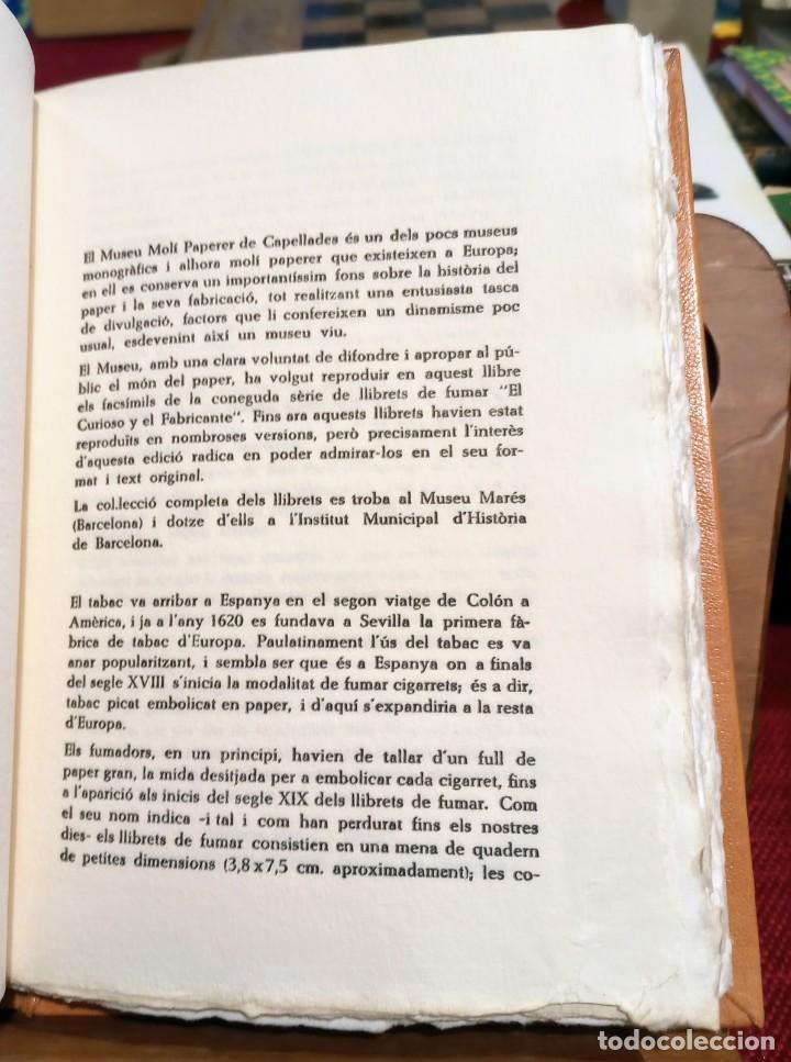 Libros de segunda mano: RARO 24 grabados PAPEL DE FUMAR - EL CURIOSO Y EL FABRICANTE - 1989 - CAPELLADES - LIMITADO - num. - Foto 8 - 255570305