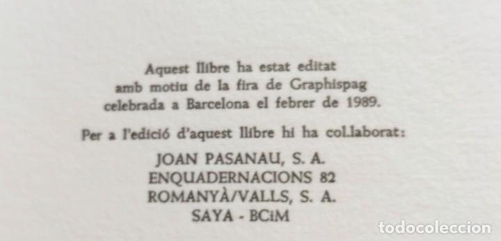 Libros de segunda mano: RARO 24 grabados PAPEL DE FUMAR - EL CURIOSO Y EL FABRICANTE - 1989 - CAPELLADES - LIMITADO - num. - Foto 9 - 255570305