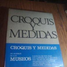 Libros de segunda mano: CROQUIS Y MEDIDAS DE MUEBLES DE LOS MUSEOS - NOAIN, LUIS. Lote 255666285