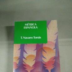 Libros de segunda mano: MÉTRICA ESPAÑOLA - F. NAVARRO TOMÁS. LABOR.. Lote 255918040