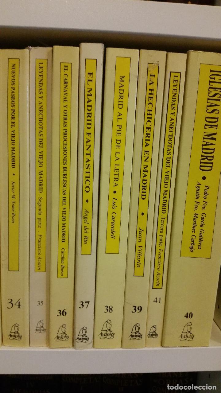 Libros de segunda mano: 1983 - 40 tomos de la colección Avapiés de temas madrileños: Madrid tremebundo, Plazas de toros, etc - Foto 8 - 255968940