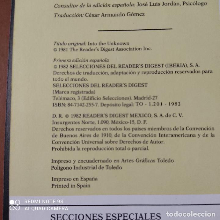 Libros de segunda mano: HACIA LO DESCONOCIDO. SELECCIONES DEL READERS DIGEST. 1982. PAGS. 352 - Foto 3 - 256078445