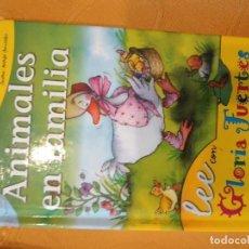 Libros de segunda mano: G-72 LIBRO ANIMALES EN FAMILIA LEE CON GLORIA FUERTES EDIT. SUSAETA. Lote 257310925