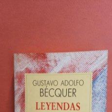 Livros em segunda mão: LEYENDAS. GUSTAVO ADOLFO BÉCQUER. ESPASA-CALPE,S.A.. Lote 257428440