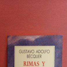 Livros em segunda mão: RIMAS Y DECLARACIONES POÉTICAS. GUSTAVO ADOLFO BÉCQUER. ESPASA-CALPE,S.A.. Lote 257428700