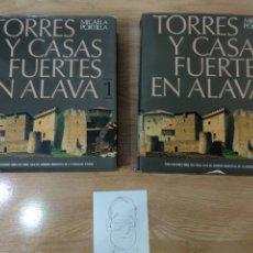 Libri di seconda mano: TORRES Y CASAS FUERTES EN ALAVA TOMO 1 Y 2, CAJA DE AHORROS. Lote 257545270