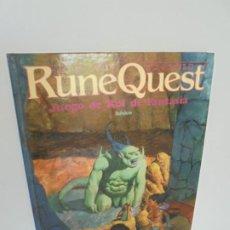 Libros de segunda mano: RUNE QUEST. JUEGO DE ROL DE FANTASIA. BASICO. GREG STAFFORD. 1992.. Lote 257690505