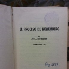 Livres d'occasion: PRECESO DE NUREMBERG. JOE J. HAYDECKER Y JOHANNES LEEB. EDITORIAL BRUGUERA, S. A.. Lote 257870010