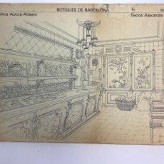Libros de segunda mano: L-5817. BOTIGUES DE BARCELONA. DIBUIXOS AURORA ALTISENT TEXTOS A.CIRICI. 1979.. Lote 258507840