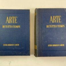 Libros de segunda mano: L-5654. ARTE DI TUTTI TEMPI, MIA CINOTTI. INSTITUTO GEOGRAFICO DE AGOSTINI. 2 TOMOS. 1955.. Lote 259269125
