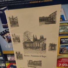 Libros de segunda mano: RINCONES Y MONUMENTOS DE BURGOS....12 LAMINAS....1995..... Lote 259766490