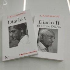Libros de segunda mano: DIARIO I - II J. KRISHNAMURTI KAIROS 2019 DIARIO Y ULTIMO DIARIO NUEVOS PERFECTO ESTADO. Lote 260019750
