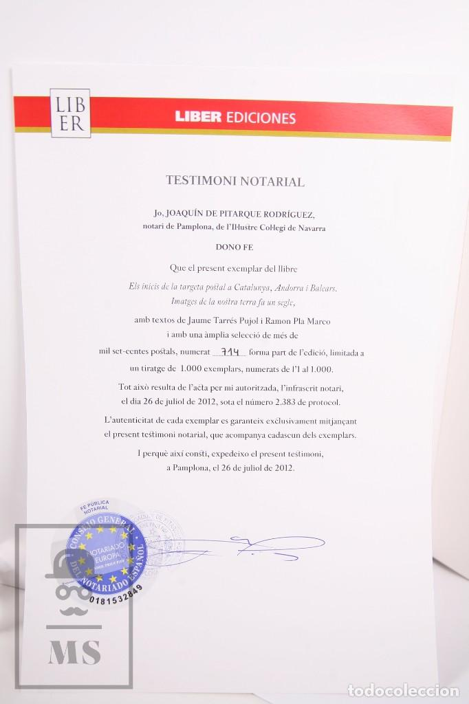 Libros de segunda mano: Libro Gran Formato - El Inicis de la Targeta Postal a Catalunya, Andorra i Balears - Ed. Liber 2012 - Foto 3 - 260065520