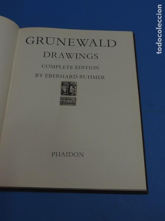 Libros de segunda mano: GRÜNEWALD DRAWINGS. COMPLETE EDITION.- Eberhard Ruhmer - Foto 3 - 260089470