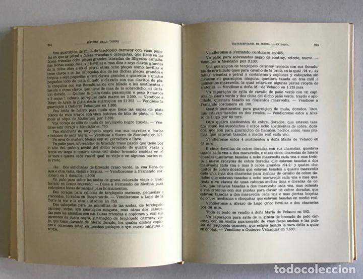 Libros de segunda mano: TESTAMENTARIA DE ISABEL LA CATOLICA - LA TORRE Y DEL CERRO, Antonio de. - Foto 3 - 123205651
