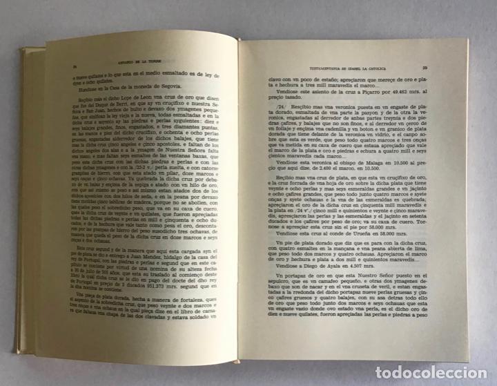 Libros de segunda mano: TESTAMENTARIA DE ISABEL LA CATOLICA - LA TORRE Y DEL CERRO, Antonio de. - Foto 4 - 123205651