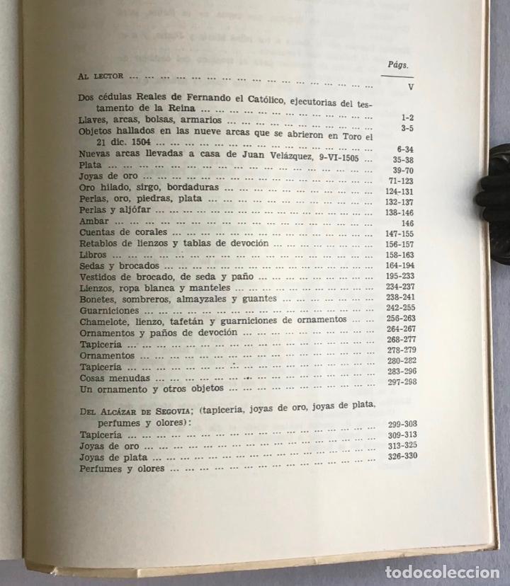 Libros de segunda mano: TESTAMENTARIA DE ISABEL LA CATOLICA - LA TORRE Y DEL CERRO, Antonio de. - Foto 5 - 123205651